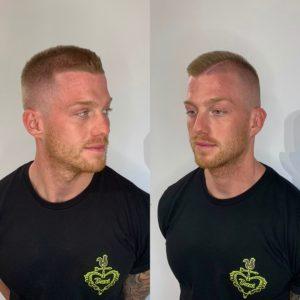 Férfi normál hajvágás géppel/ollóval